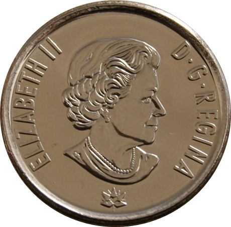 HOPE FOR A GREEN FUTURE 2017 Canada 150-25 cents Non Colored Coin