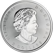 2 Dollars - Elizabeth II (Howling Wolves; ¾ oz. Silver Bullion Coinage) -  obverse