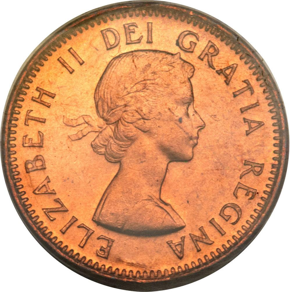 Canada 1964 1 Cent Copper One Canadian Penny Coin