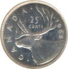 25 Cents - Elizabeth II (2nd portrait, Silver) -  reverse