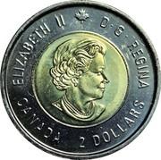 2 Dollars - Elizabeth II (The Battle of Vimy Ridge) -  obverse