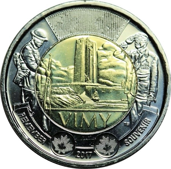 CANADA BATTLE of The ATLANTIC 2$ Remembrance Toonie UNC 2016