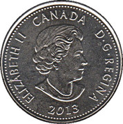 25 Cents - Elizabeth II (War of 1812, Laura Secord) -  obverse