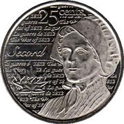 25 Cents - Elizabeth II (War of 1812, Laura Secord) -  reverse