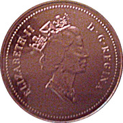 1 Cent - Elizabeth II (Specimen sets; bronze) – obverse