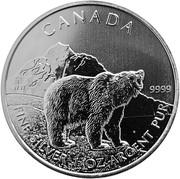 5 Dollars - Elizabeth II (Grizzly Bear) -  reverse