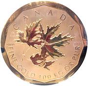 1 000 000 Dollars - Elizabeth II (Maple Leaf) -  reverse