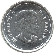 25 Cents - Elizabeth II (Wood Bison) -  obverse