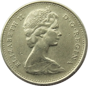 10 Cents - Elizabeth II (2nd portrait; Philadelphia mint) – obverse