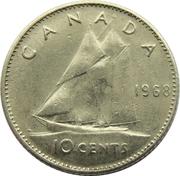 10 Cents - Elizabeth II (2nd portrait; Philadelphia mint) -  reverse