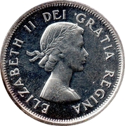 25 Cents - Elizabeth II (1st portrait) -  obverse