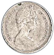 10 Cents - Elizabeth II (2nd portrait, Silver (.500), Ottawa) -  obverse