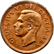 1 Cent - George VI (without ET IND:IMP:) – obverse