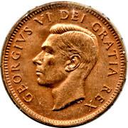 1 Cent - George VI (without ET IND:IMP:) -  obverse
