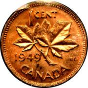 1 Cent - George VI (without ET IND:IMP:) -  reverse