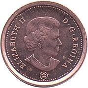 1 Cent - Elizabeth II (4th portrait; non-magnetic) – obverse