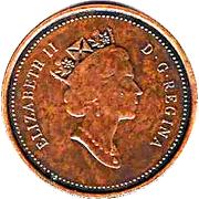 1 Cent - Elizabeth II (Royal Canadian Mint; antique finish) – obverse