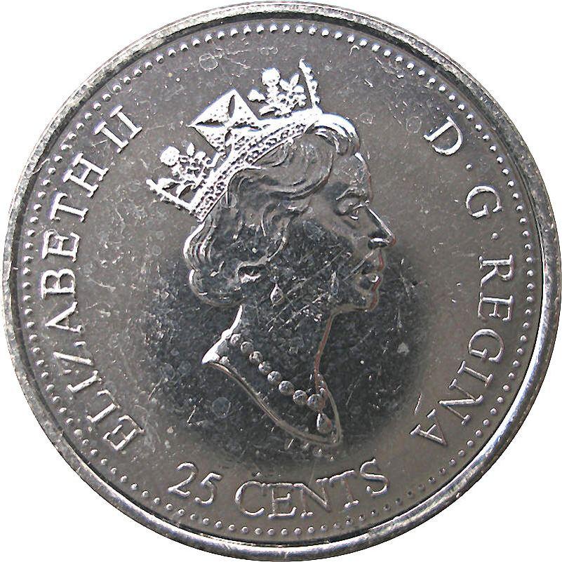 1999 Canada Millennium Series July 25 Cents Gem BU UNC Quarter!!