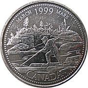 25 Cents - Elizabeth II (March) -  reverse
