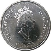 25 Cents - Elizabeth II (Achievement) -  obverse