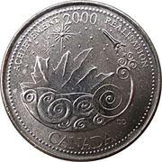 25 Cents - Elizabeth II (Achievement) -  reverse