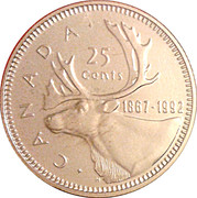 25 Cents - Elizabeth II (Confederation) -  reverse