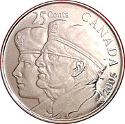 25 Cents - Elizabeth II (Year of the Veteran) -  reverse