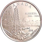 25 Cents - Elizabeth II (Alberta) -  reverse