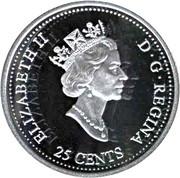 25 Cents - Elizabeth II (January; silver) -  obverse