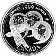 25 Cents - Elizabeth II (January; silver) -  reverse