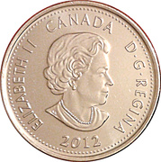 25 Cents - Elizabeth II (War of 1812, Tecumseh) -  obverse