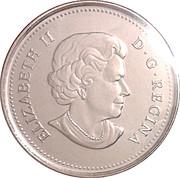 25 Cents - Elizabeth II  (Peregrine Falcon) -  obverse