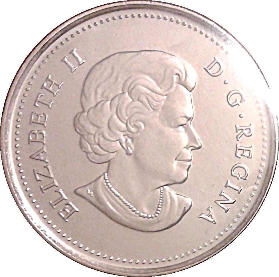 CANADA 25 CENTS QUARTER QEII CANADIAN BISON 2011 NON-COLOR COIN UNC
