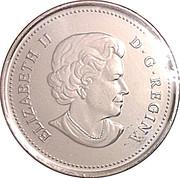 25 Cents - Elizabeth II (Peregrine Falcon: colourized) -  obverse