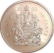 50 Cents- Elizabeth II (3rd portrait, revised coat of arms) -  obverse