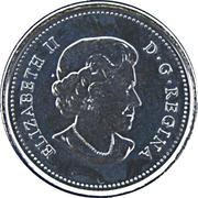 25 Cents - Elizabeth II (Canadian Flag) -  obverse