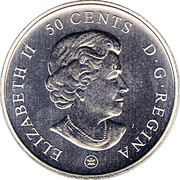 50 Cents - Elizabeth II (Montreal Canadiens) -  obverse