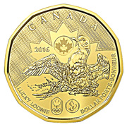1 Dollar - Elizabeth II (Lucky Loonie) -  reverse