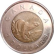 2 Dollars - Elizabeth II (10th anniversary Toonie) -  reverse