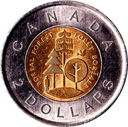 2 Dollars - Elizabeth II (Boreal Forest) -  reverse