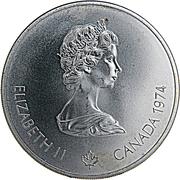 5 Dollars - Elizabeth II (Olympic Rings and Wreath) -  obverse