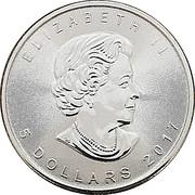 5 Dollars - Elizabeth II (4th portrait; Silver Bullion Coinage) -  obverse