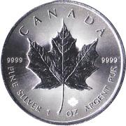 5 Dollars - Elizabeth II (4th portrait; Silver Bullion Coinage) -  reverse