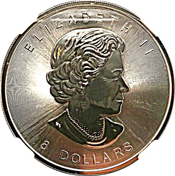 8 Dollars Elizabeth Ii Bison 1 25 Oz Silver Bullion Coinage Canada Numista