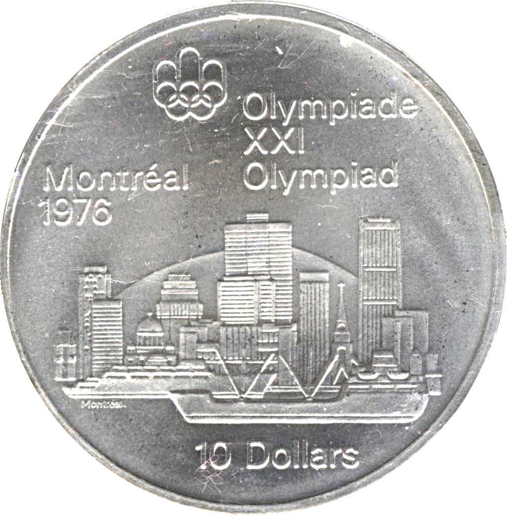10 Dollars Elizabeth Ii Montreal Skyline Canada Numista