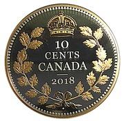 10 Cents - Elizabeth II (George V; 1936 Dot) – reverse