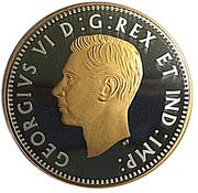 10 Cents - Elizabeth II (George VI; 1947 Maple Leaf) – obverse