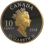 10 Cents - Elizabeth II (2001 Year of the Volunteer) – obverse