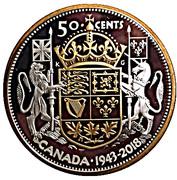 50 Cents - Elizabeth II (George VI; 1943 Half-Dollar) – reverse