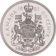 50 Cents - Elizabeth II (2nd portrait) -  reverse